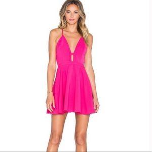 NWT NBD x Naven Twins Hot Pink Mini Dress